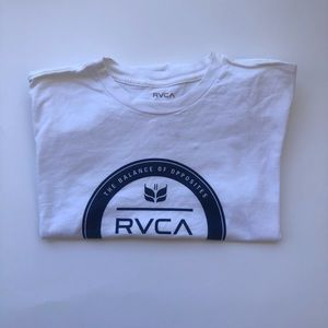RVCA size XL boys fit color white and blue
